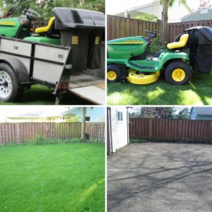 John Deere LT150 and lawn Project