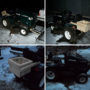 mower with weight box
