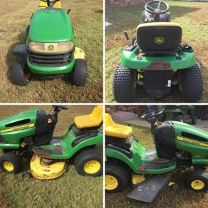 John Deere 115 Automatic Before being Refurbished